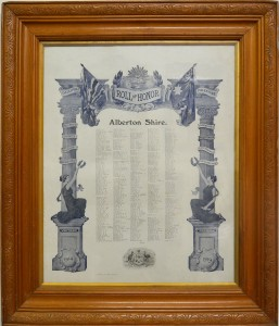 Framed Honor Roll: Alberton Shire