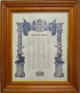 Framed Honor Roll: Alberton Shire