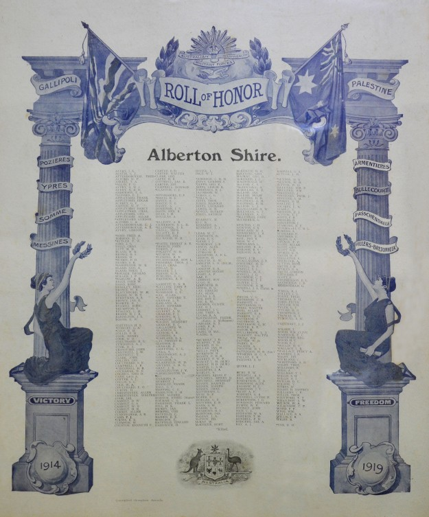 Detail: Alberton Shire Honor Roll