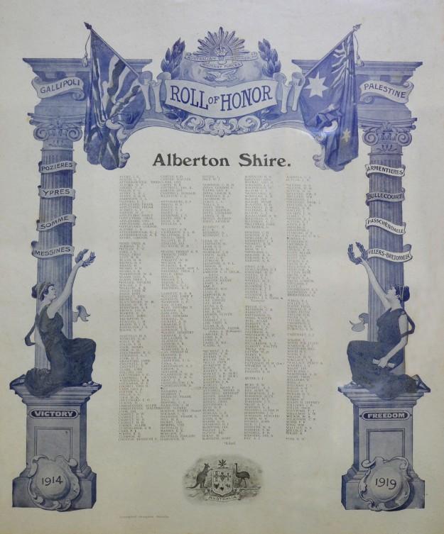 Detail: Alberton Shire Honor Roll