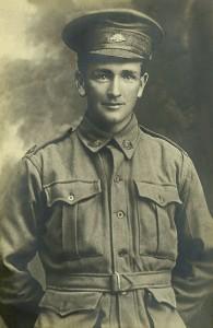 Private Patrick Joseph Mills. Courtesy of Michael English, grandson of William Mills.