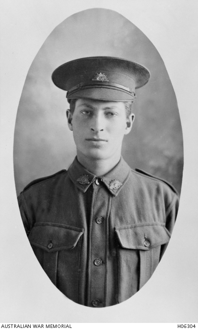 Studio portrait Private Roy Harry Nebbitt 2720, courtesy AWM