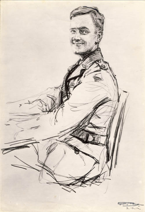 Maj. G M Nicholas 1916, by his wife. Courtesy AWM