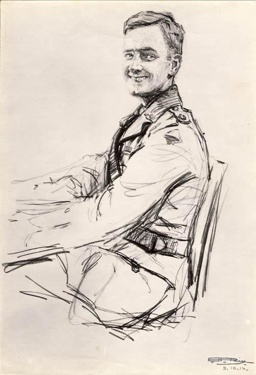 Maj. G M Nicholas 1916, by his wife. Courtesy AWM