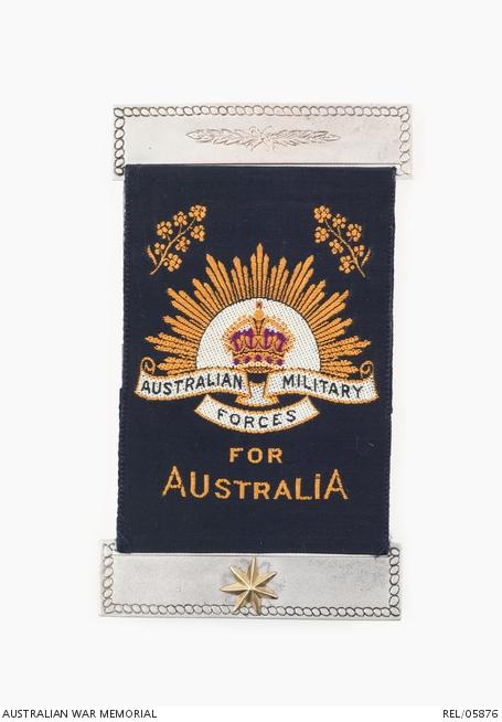 First World War Mothers' and Widows' Badge, courtesy Australian War memorial