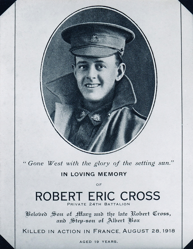 R E Cross, courtesy of Yarram and District Historical Society